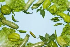 Pagina delle verdure verdi Fotografie Stock