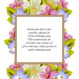Pagina di alcuni fiori Per progettazione delle carte, inviti, accoglienti per il compleanno, nozze, partito, festa, celebrazione, Fotografie Stock