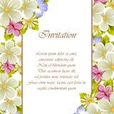 Pagina di alcuni fiori Per progettazione delle carte, inviti, accoglienti per il compleanno, nozze, partito, festa, celebrazione, Fotografie Stock Libere da Diritti