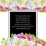 Pagina di alcuni fiori Per progettazione delle carte, inviti, accoglienti per il compleanno, nozze, partito, festa, celebrazione, Immagine Stock