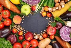 Pagina di alimento differente variopinto Immagine Stock Libera da Diritti