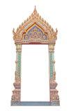 Pagina di arte antica tailandese del portone Immagini Stock Libere da Diritti