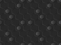pagina di carta scura del poligono dell'incrocio di esagono di arte 3D illustrazione di stock