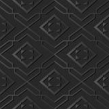 pagina di carta scura dell'incrocio di spirale del controllo della geometria della stella di arte 3D royalty illustrazione gratis