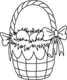 Pagina di coloritura del cestino di Pasqua Fotografia Stock