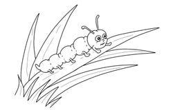 Pagina di coloritura del fumetto di Caterpillar royalty illustrazione gratis