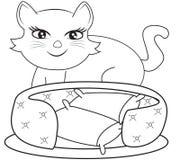 Pagina di coloritura del gatto Fotografie Stock Libere da Diritti