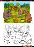 Pagina di coloritura del gruppo di animali Fotografie Stock Libere da Diritti
