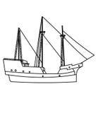 Pagina di coloritura della nave illustrazione vettoriale