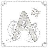 Pagina di coloritura di alfabeto Fotografie Stock