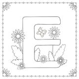 Pagina di coloritura di alfabeto Immagine Stock