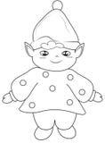 Pagina di coloritura di Elf Immagine Stock Libera da Diritti