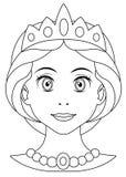Pagina di coloritura di principessa del fumetto Fotografie Stock Libere da Diritti