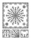 Pagina di coloritura e puzzle visivo per gli adulti Fotografia Stock