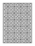 Pagina di coloritura per gli adulti, o fondo ornamentale in bianco e nero Fotografia Stock Libera da Diritti