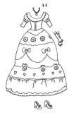 Pagina di coloritura - principessa Wardrobe Fotografie Stock