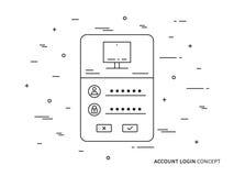 Pagina di connessione illustrazione vettoriale