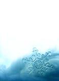 Pagina di cristallo del fiocco di neve Fotografia Stock