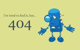 Pagina di errore 404 Fotografie Stock Libere da Diritti