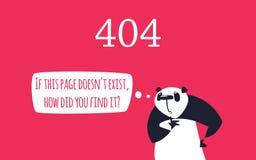 Pagina di errore 404 Fotografie Stock