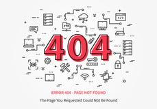 Pagina di errore 404 con il centro dati Fotografia Stock Libera da Diritti