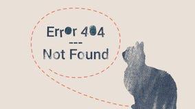Pagina di errore 404 non trovata Fotografia Stock Libera da Diritti