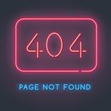 Pagina di errore 404 non trovata Fotografie Stock