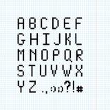Pagina di fonte del pixel Fotografia Stock