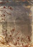 Pagina di Grunge con il disegno rustico Fotografia Stock Libera da Diritti