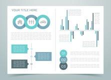 Pagina 2 di Infographic di finanza Fotografia Stock