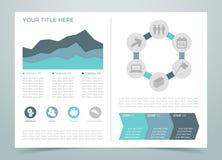 Pagina 3 di Infographic di finanza Fotografia Stock