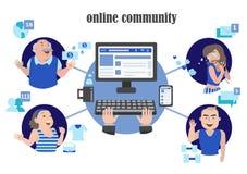 Pagina di Internet della rete sociale Fotografia Stock