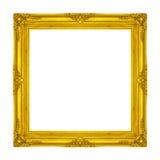 Pagina di legno in bianco d'annata della cornice scolpito isolato su briciolo Fotografia Stock Libera da Diritti