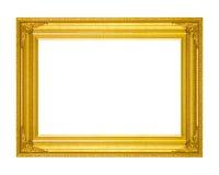 Pagina di legno in bianco d'annata della cornice scolpito isolato su briciolo Immagine Stock Libera da Diritti