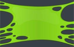 Pagina di melma appiccicosa verde Fotografia Stock