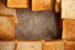 Pagina di pane tostato Immagini Stock