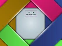 Pagina di stile di carta variopinto di arte Vettore Fotografia Stock