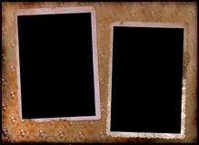 Pagina di un album di foto dell'annata. Immagini Stock Libere da Diritti