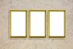Pagina dorato isolato sullo spazio beige della copia del fondo della parete, l'illustrazione 3d Fotografia Stock Libera da Diritti