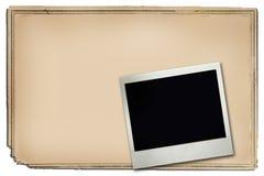 Pagina e polaroid del manifesto Immagini Stock Libere da Diritti