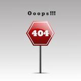 Pagina ENV non trovato 10 di errore di progettazione 404 della pagina 404 Immagine Stock