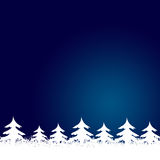 Pagina fatta dagli alberi di Natale bianchi Fotografie Stock