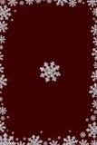 Pagina fatta dal fiocco di neve del diamante Fotografia Stock Libera da Diritti
