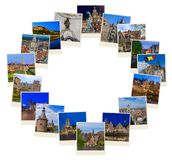 Pagina fatta delle immagini di viaggio del Belgio le mie foto Immagini Stock