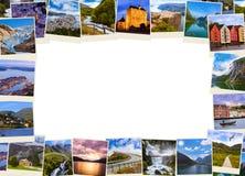 Pagina fatta delle immagini di viaggio della Norvegia (le mie foto) Fotografia Stock