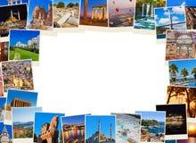Pagina fatta delle immagini di viaggio della Turchia Fotografie Stock Libere da Diritti