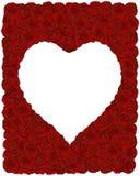 Pagina fatta delle rose rosse con il posto di cuore-forma per Immagine Stock Libera da Diritti