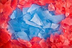 Pagina fatta di ghiaccio colorato Fotografia Stock Libera da Diritti