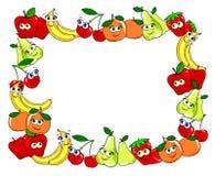 Pagina fatto con le tazze della frutta Immagine Stock Libera da Diritti