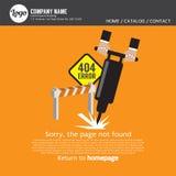 Pagina gevonden niet fout 404 Stock Afbeelding